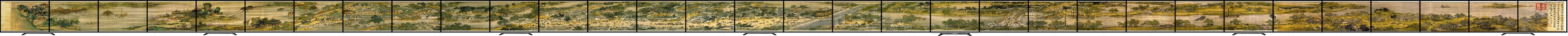 清明上河图超长超宽全景多屏拼接液晶视频墙大水平风景模式